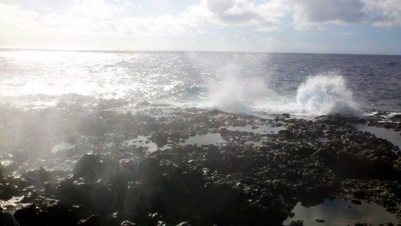 Blow hole near tide pools