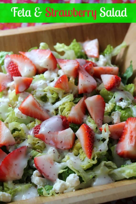 Feta & Strawberry Salad from Awesome on 20