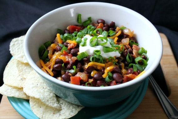 Bacon Black Bean Chili from Awesome on 20