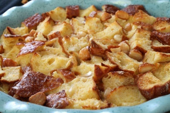 Maple Macadamia Nut Malasada Bread Pudding | How to be Awesome on $20 a Day