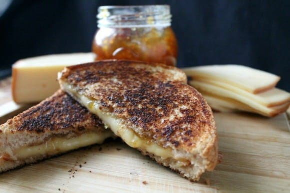 Fig Jam & Smoked Gouda Grilled Cheese | How to be Awesome on $20 a Day