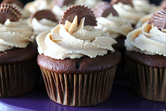 Semi-Homemade Chocolate Peanut Butter Cupcakes   How to be Awesome on $20 a Day