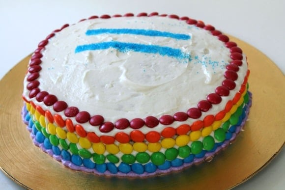 Gay Pride Cake   How to be Awesome on $20 a Day