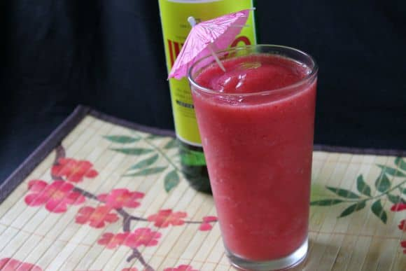 Strawberry Soju Slushie | How to be Awesome on $20 a Day