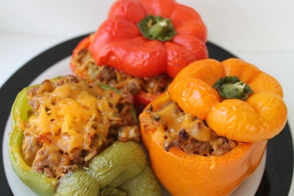 Stuffed Peppers on a Plate