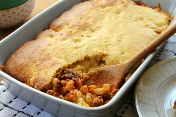 Cornbread-Topped Chili Mac   How to be Awesome on $20 a Day
