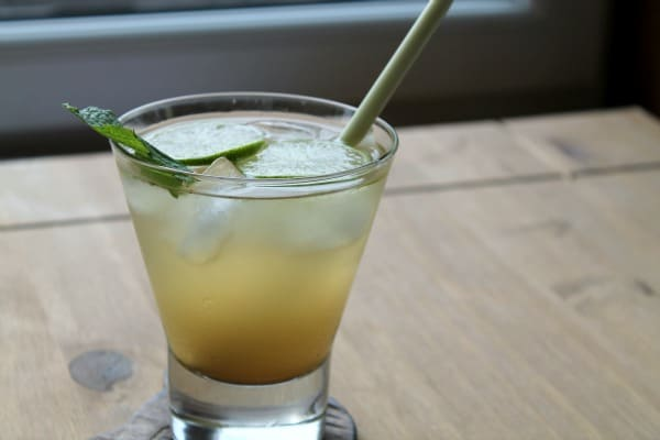 Lemongrass Gin Cocktail | How to be Awesome on $20 a Day
