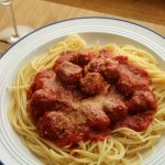 Spaghetti with Sausage Meatballs   How to be Awesome on $20 a Day