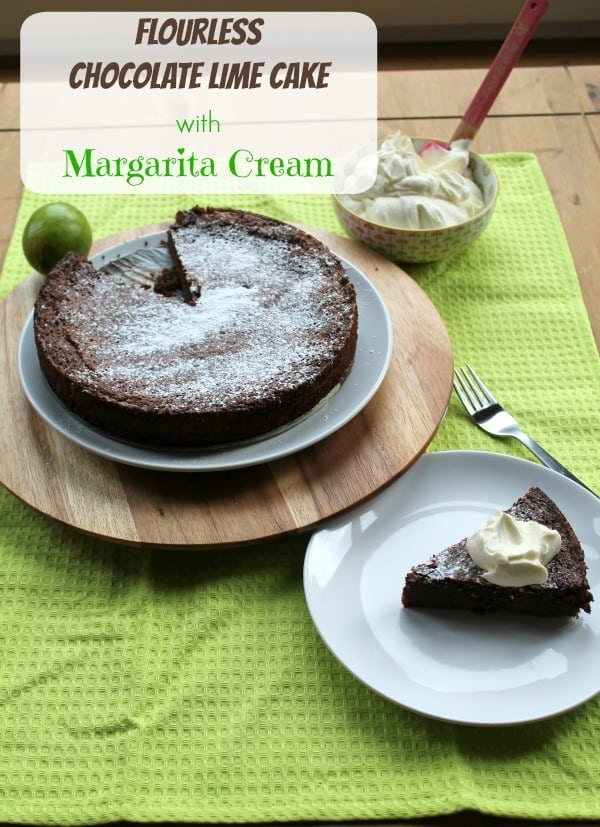 Flourless Chocolate Lime Cake with Margarita Cream   How to be Awesome on $20 a Day