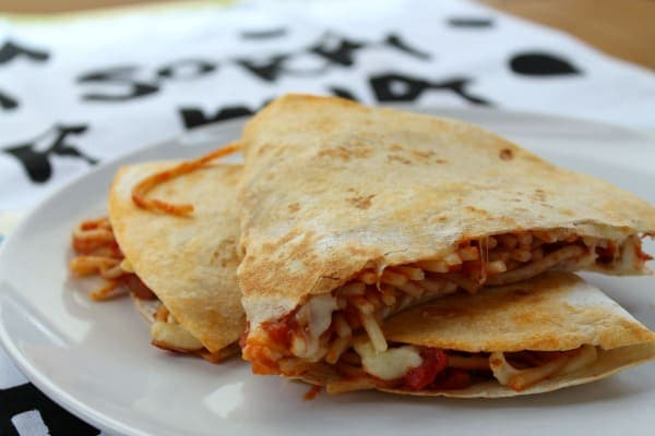 Spaghetti Quesadilla | How to be Awesome n $20 a Day