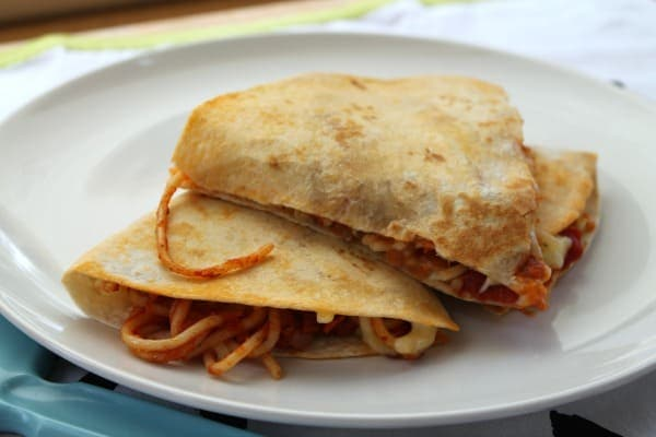Spaghetti Quesadilla   How to be Awesome n $20 a Day