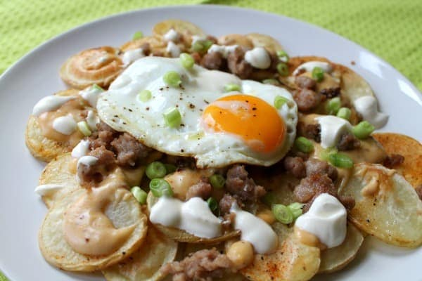 Breakfast Nachos   How to be Awesome on $20 a Day