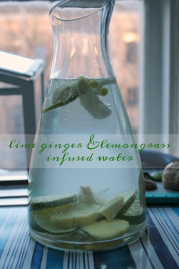 Lime Ginger & Lemongrass Infused Water | How to be Awesome on $20 a Day