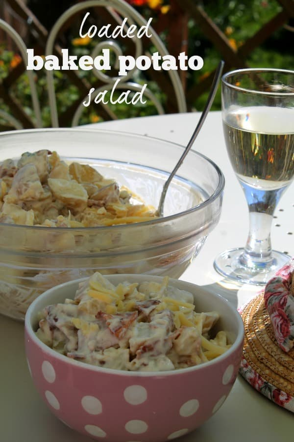 Loaded Baked Potato Salad   How to be Awesome on $20 a Day