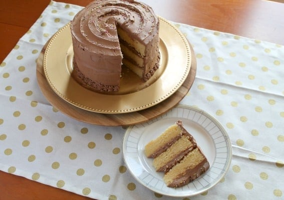 Yellow Cake with Chocolate Frosting | How to be Awesome on $20 a Day