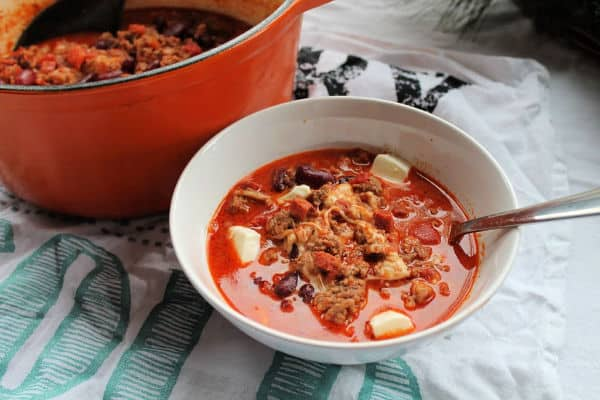 Cheesy Chorizo Chili   How to be Awesome on $20 a Day