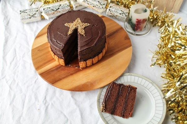Hint of Cinnamon Chocolate Cake