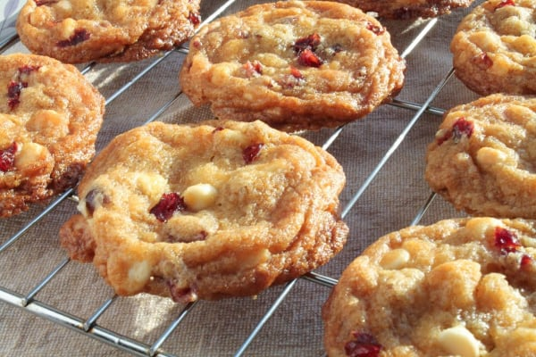 White Chocolate Cranberry Macadamia Nut Cookies   How to Be Awesome on $20 a Day