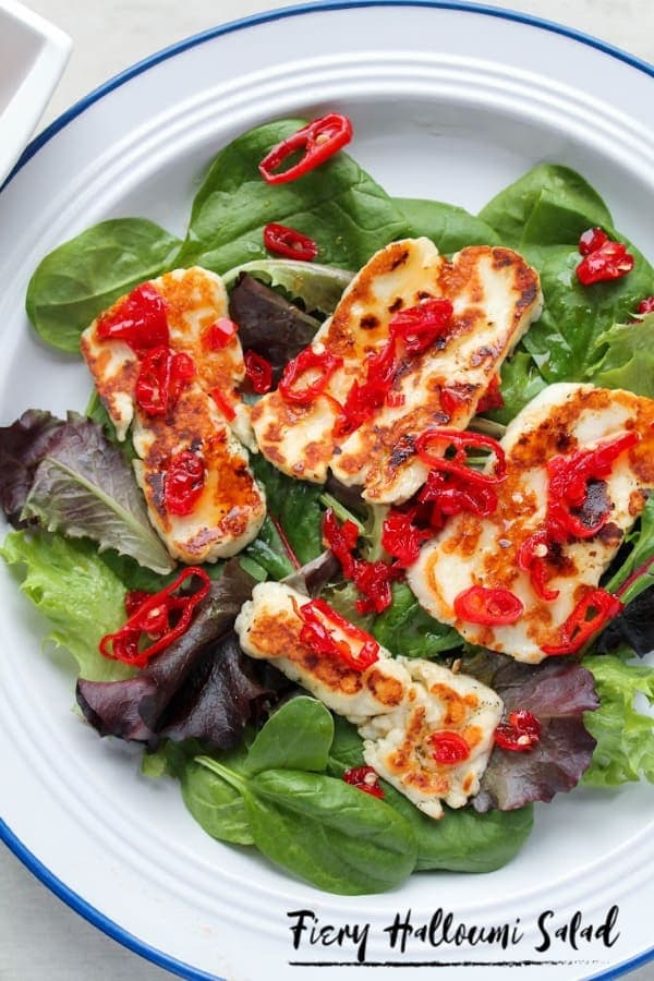 Fiery Halloumi Salad   How to Be Awesome on $20 a Day