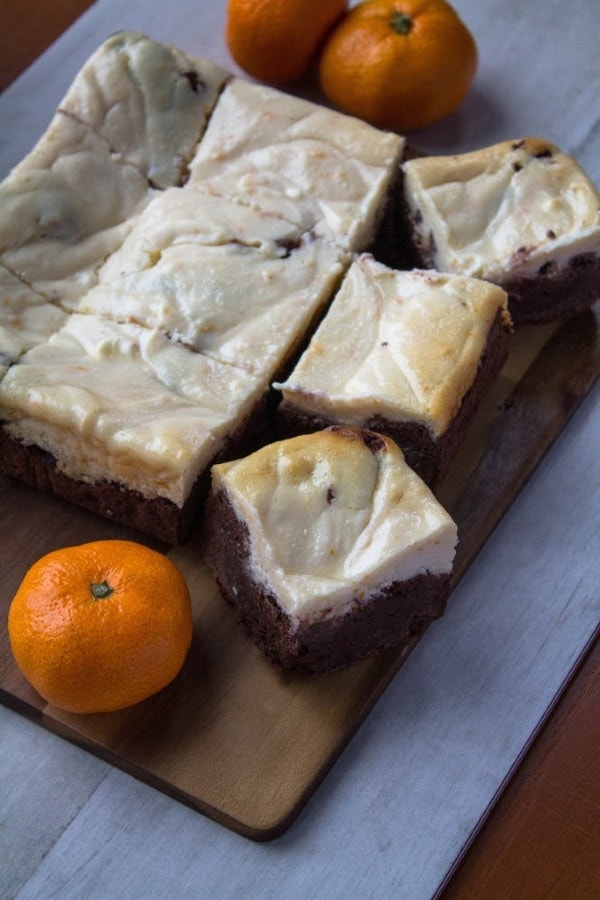 Orange Cheesecake Brownies   How to Be Awesome on $20 a Day