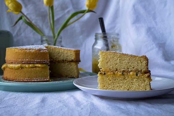 Passion Fruit Victoria Sponge | How to Be Awesome on $20 a Day