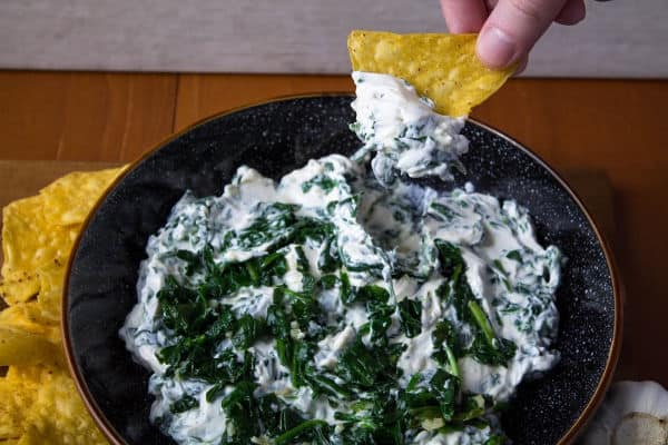 Creamy Garlic Spinach Dip | How to Be Awesome on $20 a Day