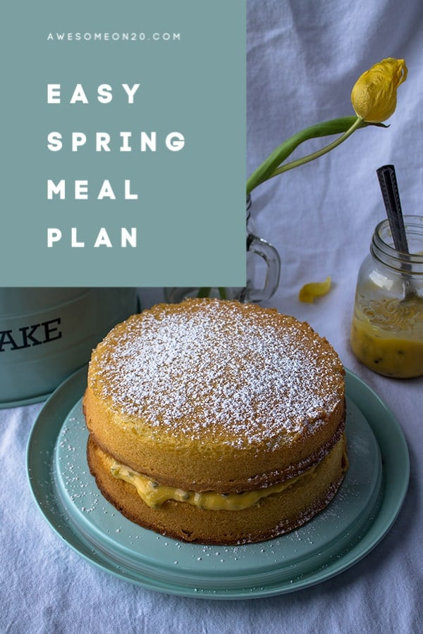 Easy Spring Meal Plan   How to Be Awesome on $20 a Day