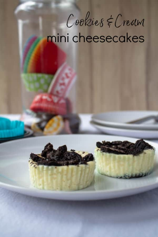 Cookies & Cream Mini Cheesecakes | How to Be Awesome on $20 a Day