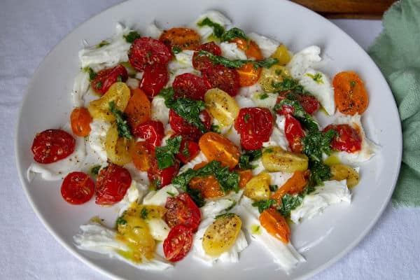 Roasted Tomato & Mozzarella Salad