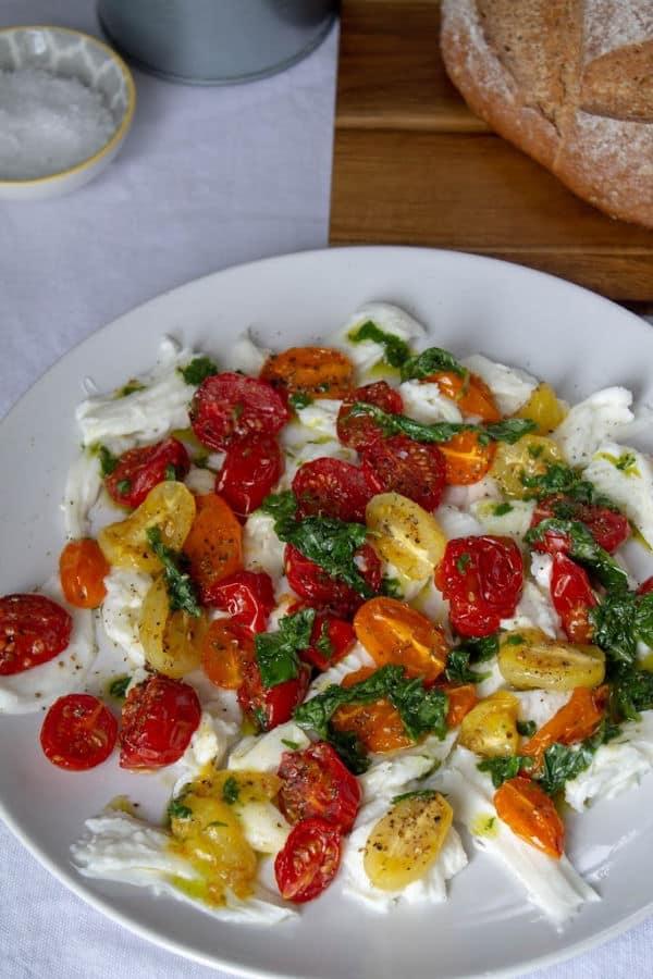 Roasted Tomato & Mozzarella Salad