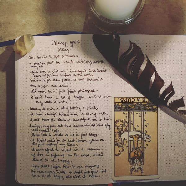 Change your story journal entry