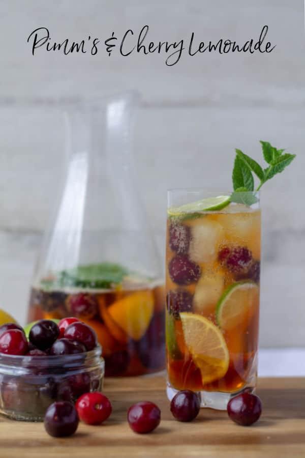 Pimm's & Cherry Lemonade