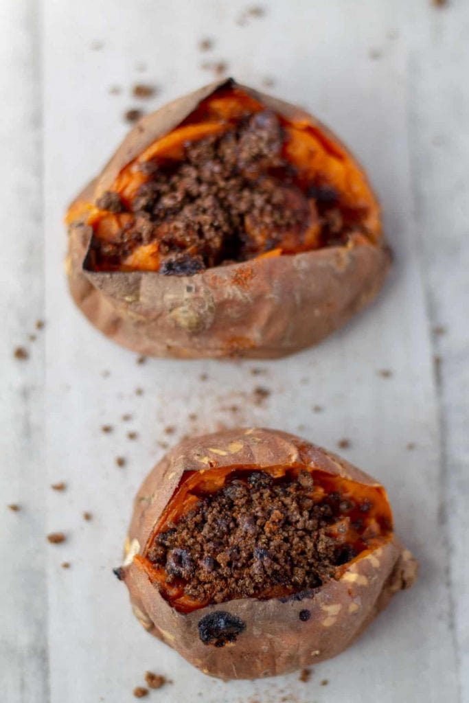 Two Baked Sweet Potato Brulee