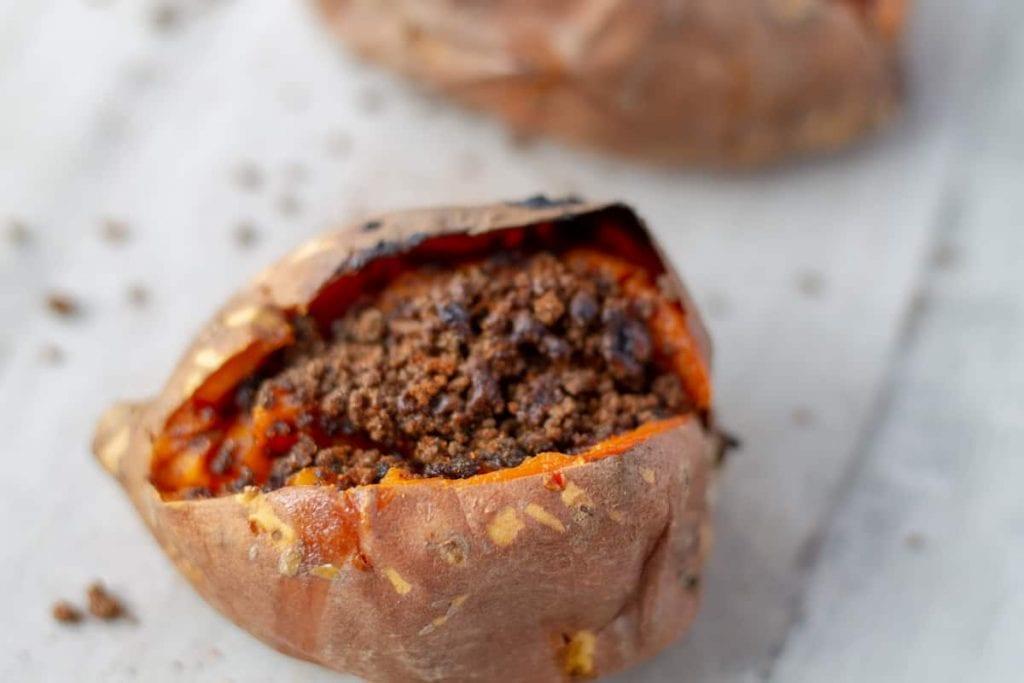 One Baked Sweet Potato Brulee