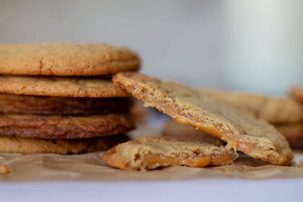 Caramel-Stuffed Apple Cider Cookies