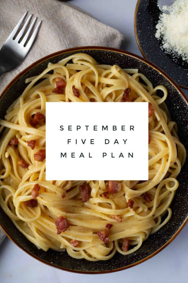 September Five Day Meal Plan
