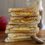 Apple Butter & Sharp Cheddar Grilled Cheese stacked