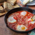 Eggs in Purgatory with toast