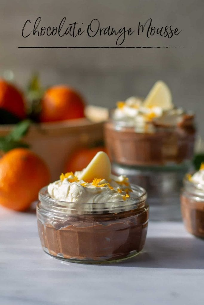 Chocolate Orange Mousse with text