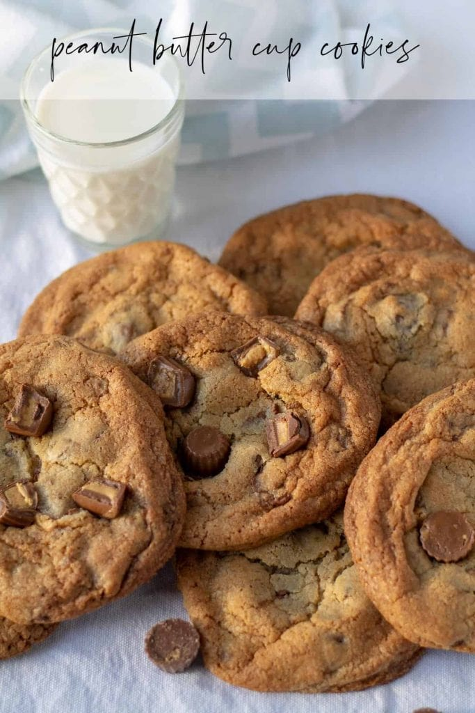 Peanut Butter Cup Cookies with text