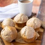 Double-Glazed Chai Spiced Muffins with cup of tea