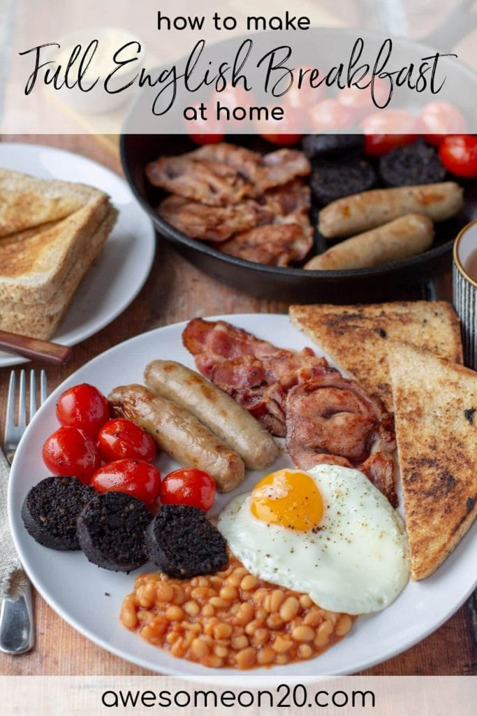 Full English Breakfast with text