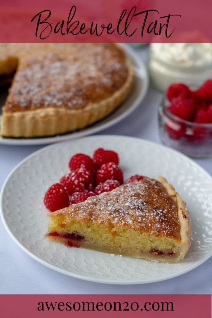 Bakewell Tart with text