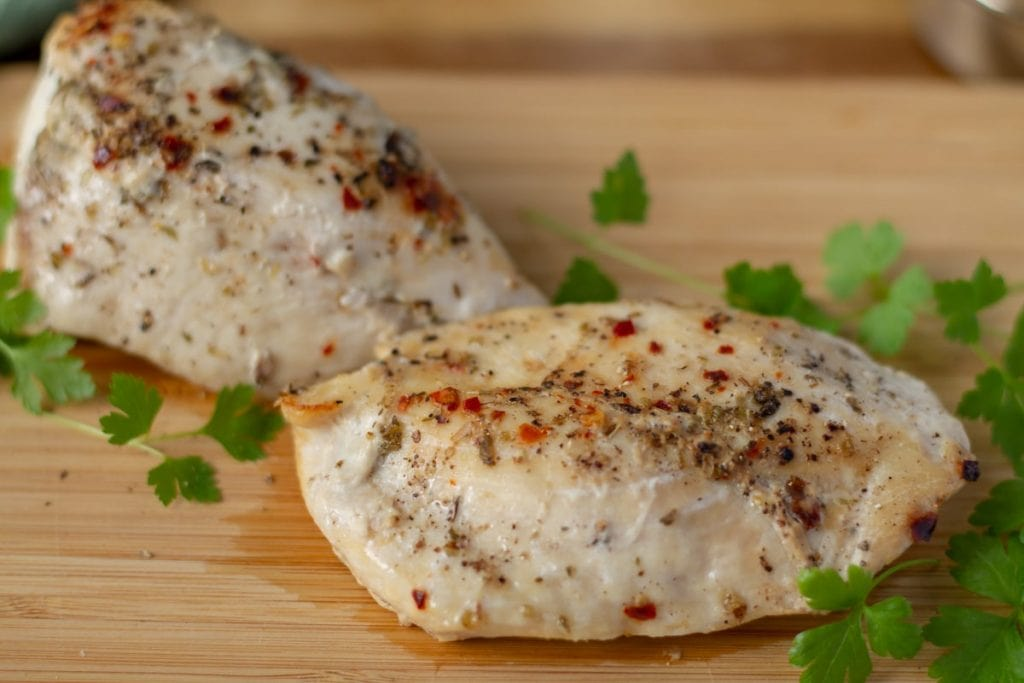 How to Cook Frozen Chicken - chicken breasts with spices