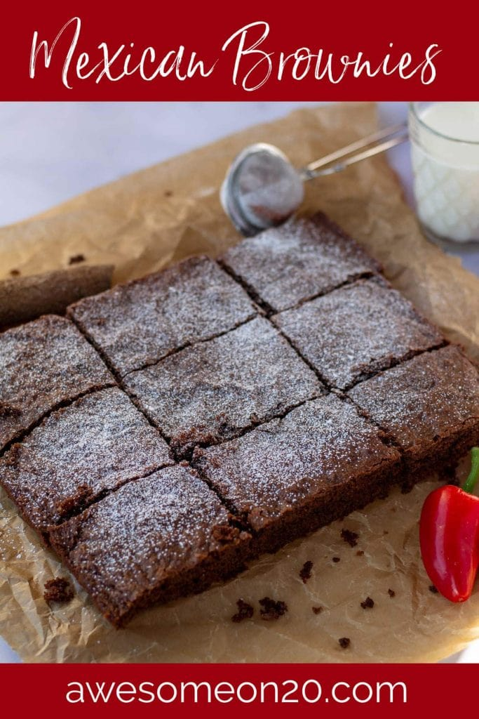 Mexican Brownies with text