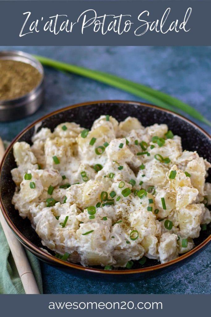 Za'atar Potato Salad with text