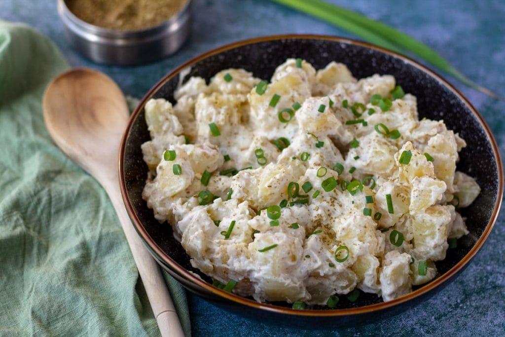 Za'atar Potato Salad with green onion