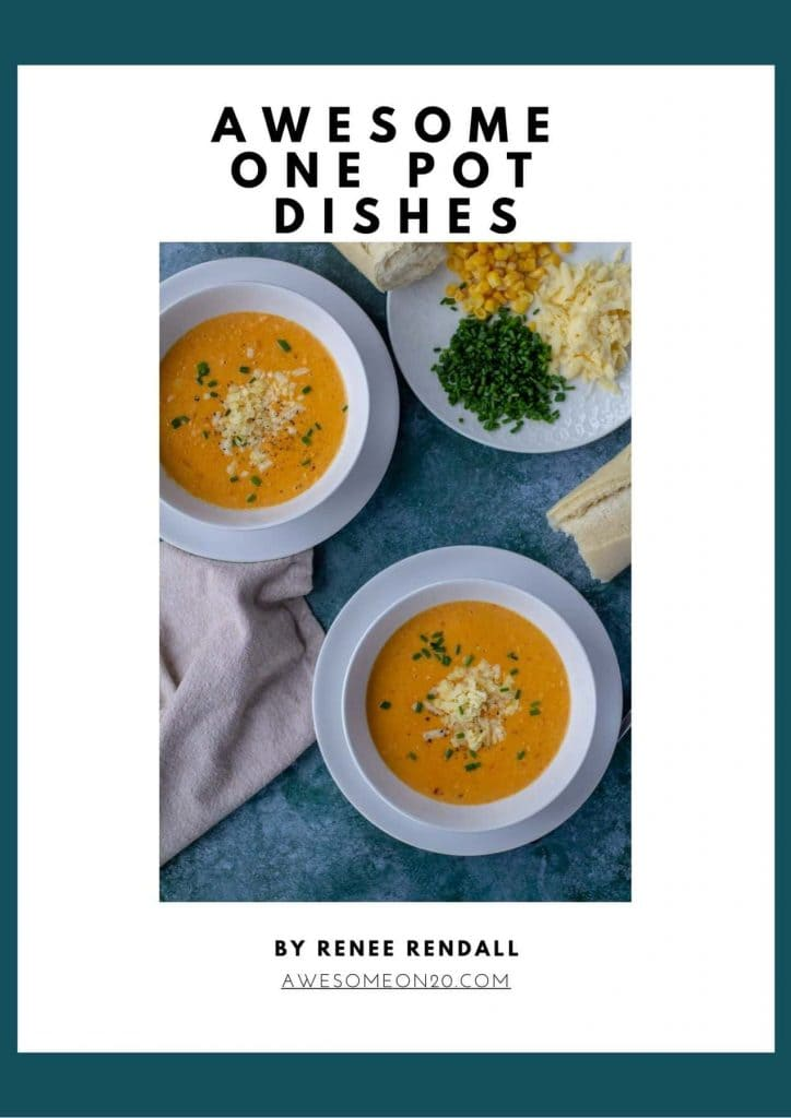 Awesome One Pot Dishes with two bowls of soup