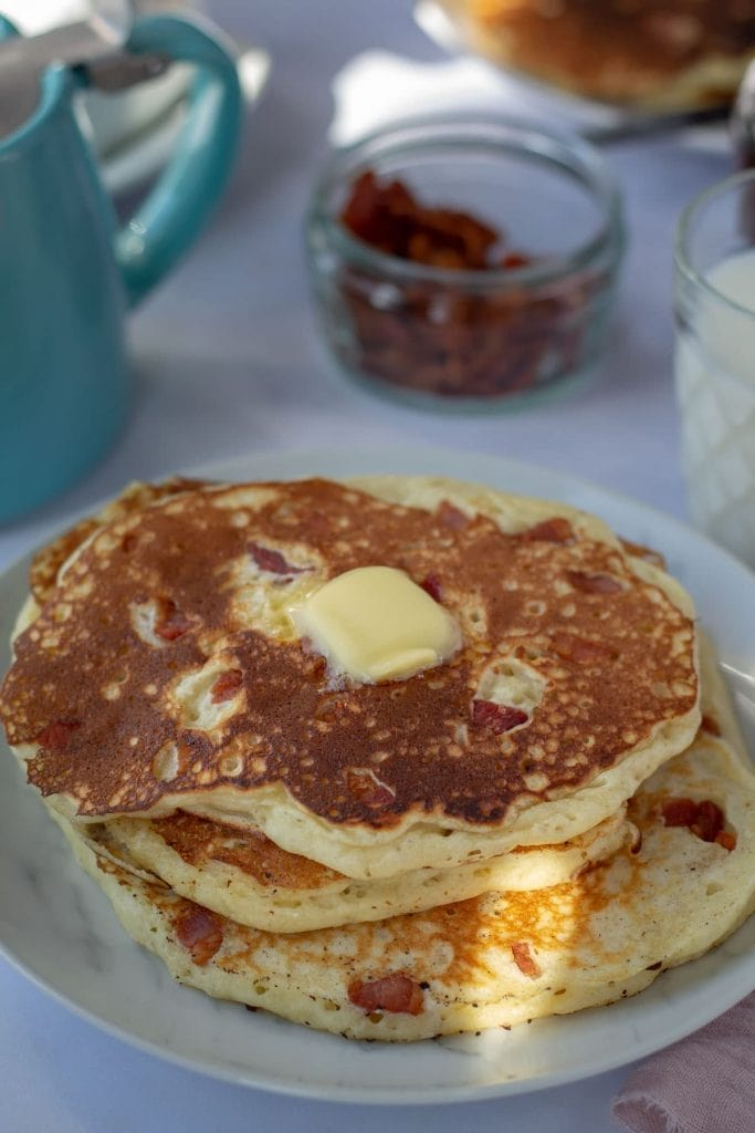 Bacon Pancakes with butter