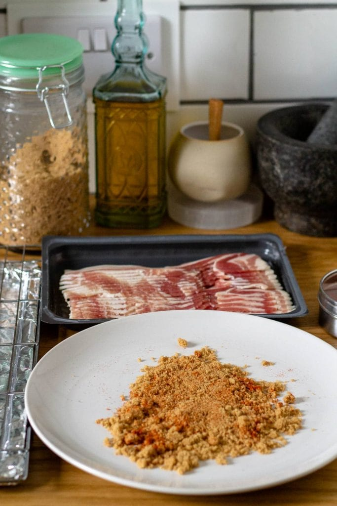 spiced brown sugar for Cayenne Candied Bacon